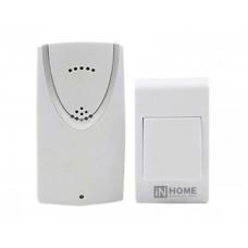 Звонок беспроводной ЗБ-1 32 мелодии 120м с кнопкой белый IN HOME