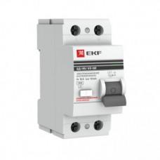 Дифференциальный выключатель УЗО ВД-100 2P 16А 30мА EKF PROxima