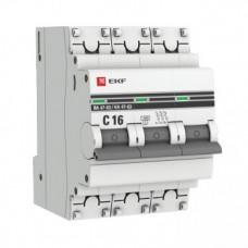 Автоматический выключатель EKF PROxima ВА47-63 3P 16А характеристика С