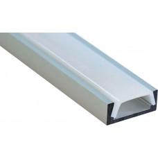 Профиль алюминиевый накладной серебро CAB262 FERON