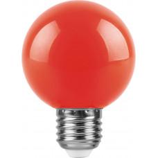 Лампа светодиодная (3W) 230V E27 красный для белт лайта G60 LB-371 FERON