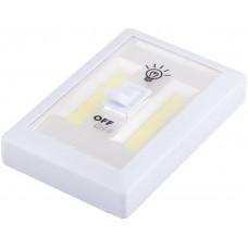 Светодиодный светильник с переключателем 1LED 3W (3*AAA в комплект не входят),  115*75*35мм, белый, FN1208 FERON