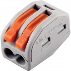 Cтроительно-монтажные клеммы 2-проводные STEKKER, LD222-412 (5 штук в упаковке)