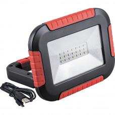 Аккумуляторный светодиодный прожектор-фонарь с зарядным устройством 10Вт 6400K IP44 Feron TL911