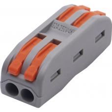 Cтроительно-монтажные клеммы для подключения фазных проводников 2 полюса, LD222-422 STEKKER