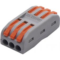 Cтроительно-монтажные клеммы для подключения фазных проводников 3 полюса, LD222-423 STEKKER