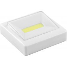 Светодиодный светильник-кнопка  1LED 3W (3*AAA в комплект не входят),  85*85мм, белый, FN1206 FERON