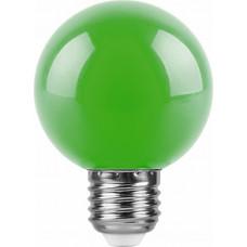 Лампа светодиодная (3W) 230V E27 зеленый для белт лайта G60 LB-371 FERON