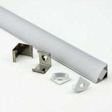 Профиль GAL-GLS-2000-16-16 угловой круглый (2м профиль+2м рассеиватель+2заглушки+4 скоб с шурупами)