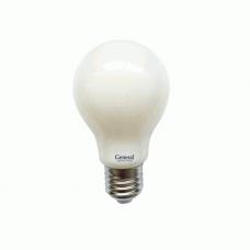 Лампа GLDEN-A60S-M-10Вт-230-E27-4500К Филамент Матовый GENERAL