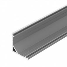 Алюминиевый профиль угловой 16*16 v2.0 2000 мм (рассеиватель+заглушки+крепеж) GS
