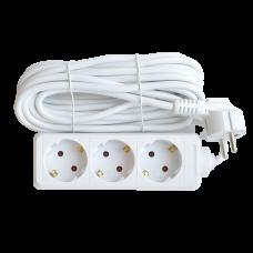 Удлинитель 3G-5-SMART трехместный 10А с заземлением 5м 8335 IN HOME