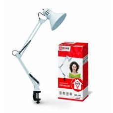 Светильник настольный под лампу СНС-13Б на струбцине 60Вт E27 белый (коробка) IN HOME