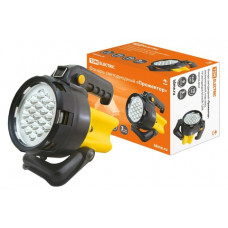 "Фонарь светодиодн. ""Прожектор"", 23+18 LED, поворотн. ручка и подставка, 28 лм/Вт, 3*D, TDM"