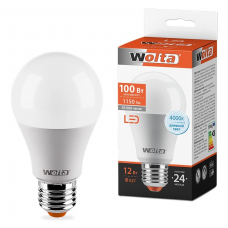 Лампа светодиодная A60 15Вт 1450лм Е27 4000К WOLTA