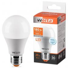 Лампа светодиодная A65 20Вт 1800лм Е27 4000К WOLTA