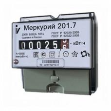 "Счетчик ""Меркурий"" 201.7 1ф 5-60А 1 класс точн. 1 тариф. имп. вых. мех. табло DIN-рейка Инкотекс"
