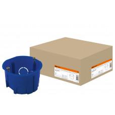 Установочная коробка модульная D68х45 мм IP20, саморез, для твердых стен, синий TDM