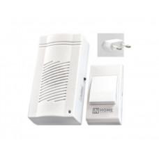 Звонок беспроводной ЗБ-4 32 мелодии 120м сетевой с кнопкой белый IN HOME
