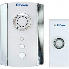 Звонок беспроводной дверной ,2*1,5V/АА (35 мелодий) белый, хром, E-368