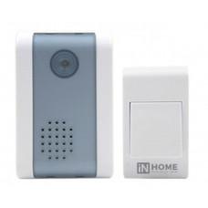 Звонок беспроводной ЗБ-2 32 мелодии 120м  с кнопкой бело-серый IN HOME